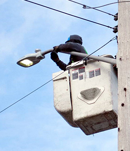 Installation of LED streetlight
