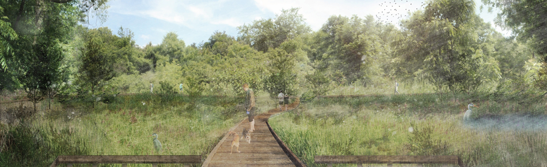 Rendering of the new boardwalk coming to Elgin Mills Greenway