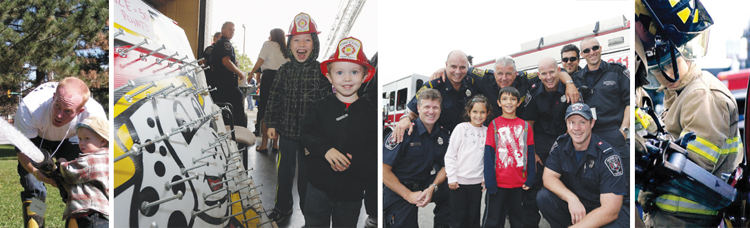 Collage of Fire Prevent Open House photos