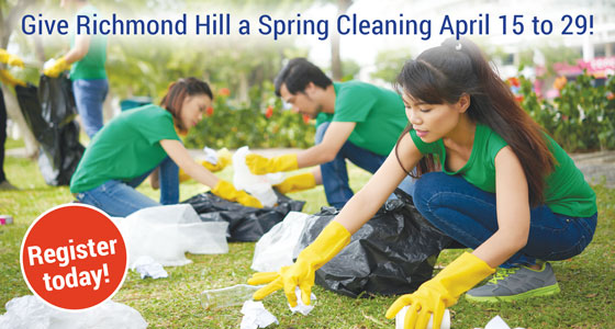 Clean up Green up event for spring cleaning April 15 to 29