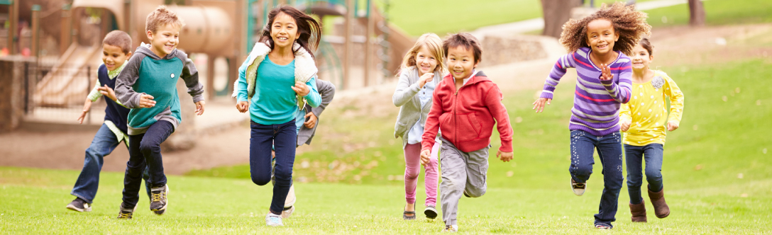 Image of children being active