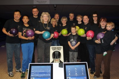 image of Character Committee members at Bowl for Kids' Sake event