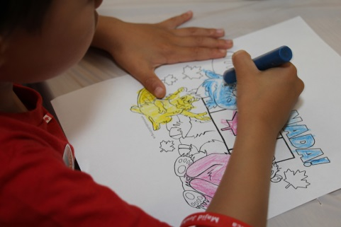 Image of child coloring