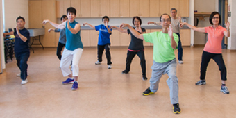 Image of Seniors in a Tai Chi class