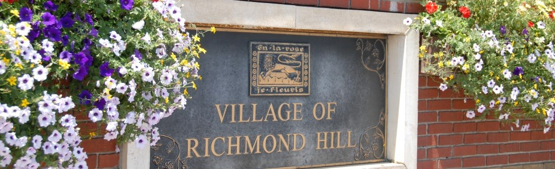 Old Village of Richmond Hill plaque