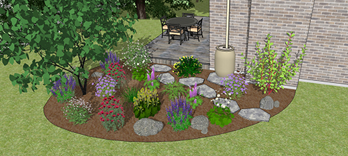 3D design concept for perennial flower shade kits