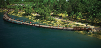 Rendering of Lake Wilcox Boardwalk