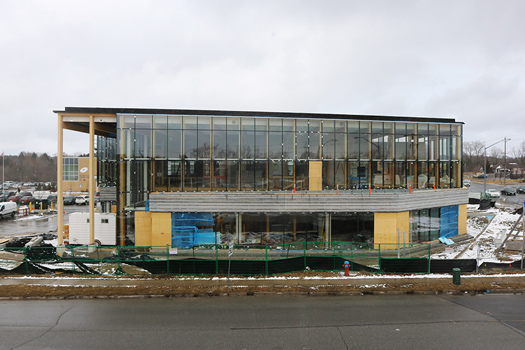 Oak Ridges Library construction