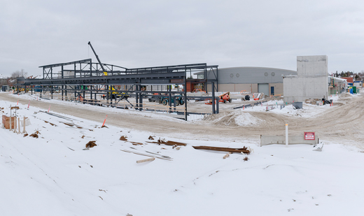 David Hamilton Park Ed Sackfield Arena construction progress