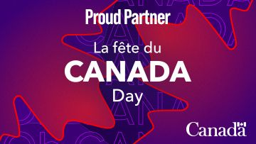 Proud Partner of Canada Day logo from Federal Government of Canada